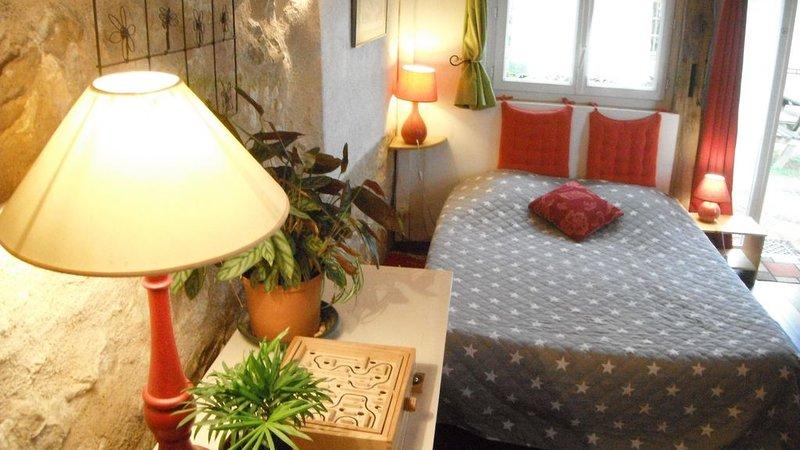 Jardin au calme face aux châteaux pour votre séjour au Pays du Futuroscope, vacation rental in Chauvigny