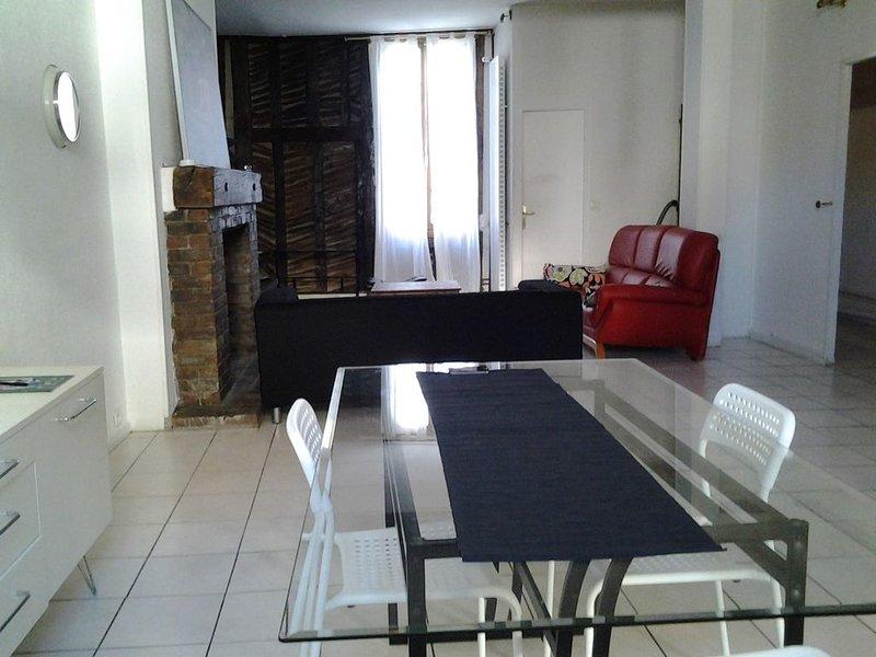 T4 de 92 m2 dans le centre ville, vacation rental in Villechetif