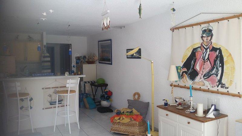 Appartement type F1 bis de 42 m²  n° 5, location de vacances à Saint-Quay-Portrieux