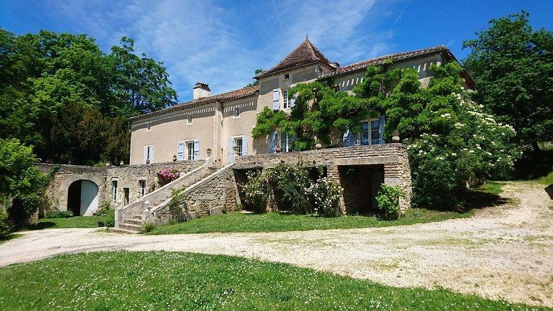 Maison de maître du XVIII et XIXème siècle au coeur du vignoble de Cahors, holiday rental in Puy-l'Eveque