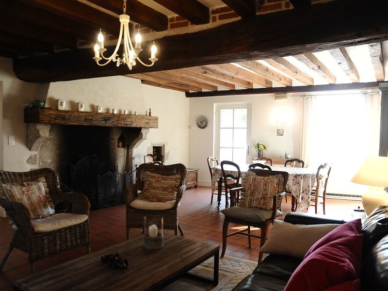 Maison ancienne de Charme à Saint Denis sur Loire, holiday rental in Montlivault