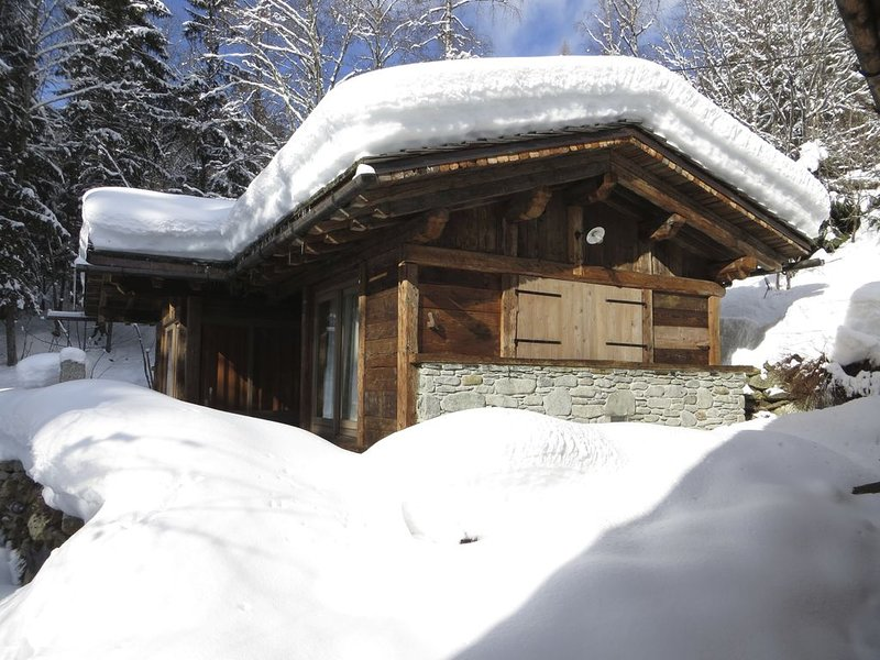 Chalet Vieux Bois: Haut de Gamme, Charme, Confort (Sauna), Vue, Riviere & Foret – semesterbostad i Les Houches