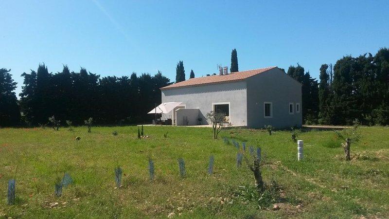 VILLA INDEPENDANTE dans  DOMAINE Agricole Bio, vacation rental in Saint-Martin-de-Crau