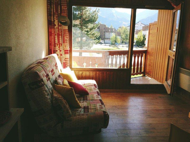 Studio pied des pistes les Deux Alpes en face de l école de skis ESF, alquiler vacacional en Mont-de-Lans