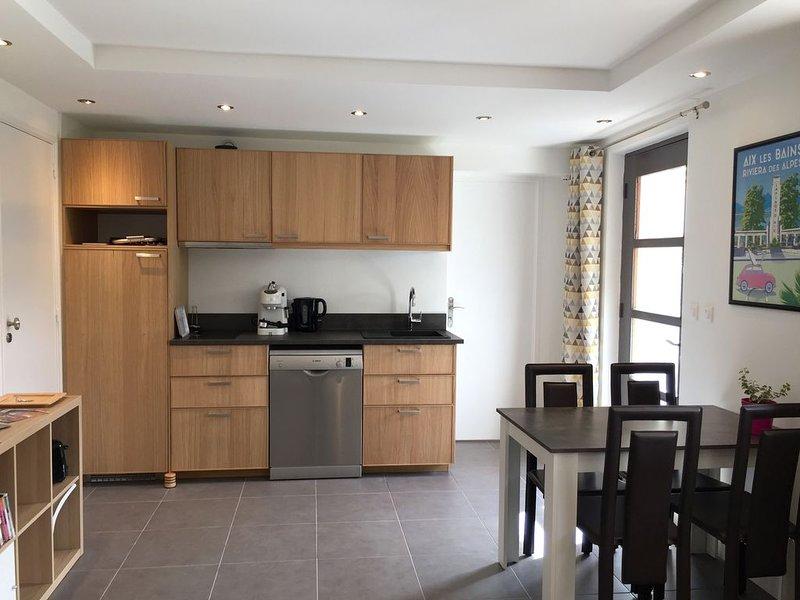 Appartement T2 35m2 jardin privatif proche centre ville et lac, holiday rental in Savoie