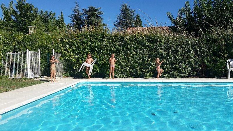 Les iris maison avec piscine dans le centre d un petit village provençal du var., location de vacances à Montmeyan