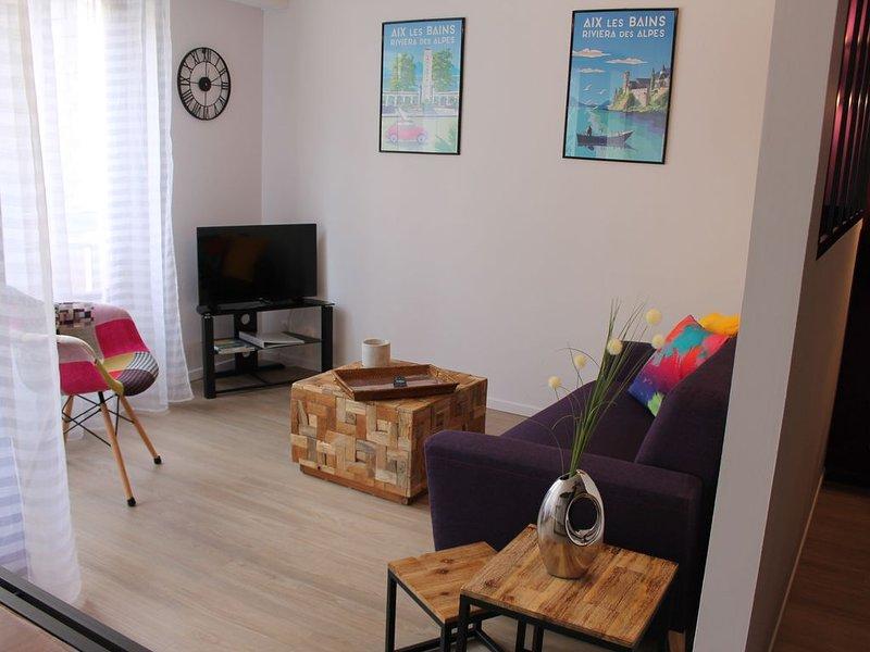 Appartement cosy 3*  avec parking pour weekend cures et vacances., casa vacanza a Montcel