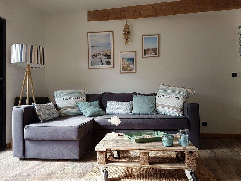 'La Laouga', petite maison pleine de charme esprit Bassin, aluguéis de temporada em Le Teich