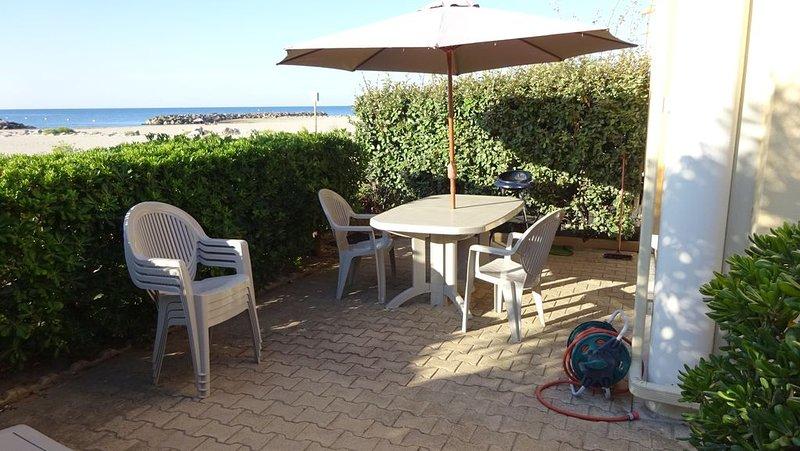 mediterranée 1ere ligne face à la mer, location de vacances à Frontignan