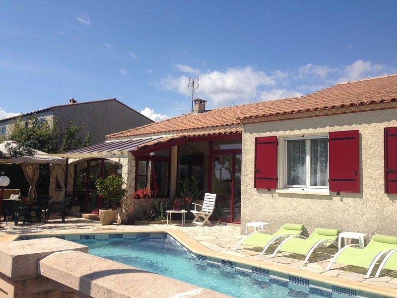 Villa agréable bien située confortable avec piscine, holiday rental in Perols