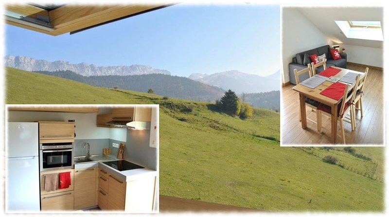 T2 35m2 entièrement équipé, avec balcon, dans résidence calme vue montagne., location de vacances à Villard-de-Lans