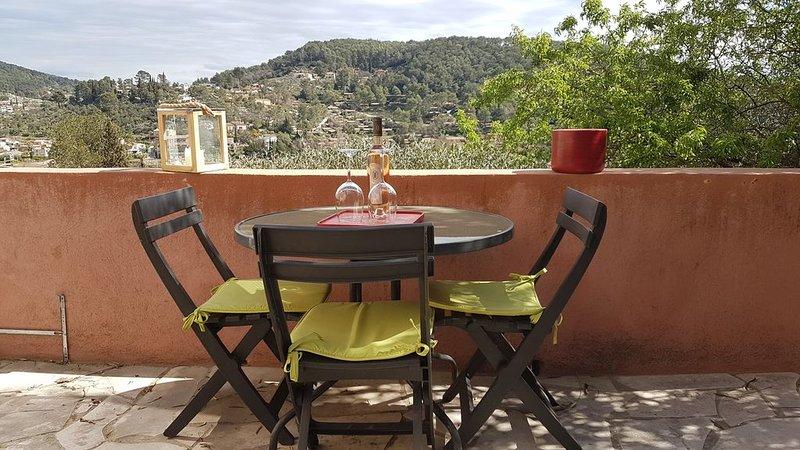 location avec superbe terrasse et vue magnifique Var Côte d'Azur, holiday rental in Sollies-Pont