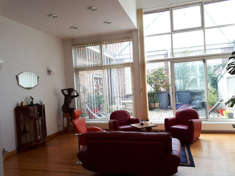Loft entier avec terrasses en centre ville, holiday rental in Jumel