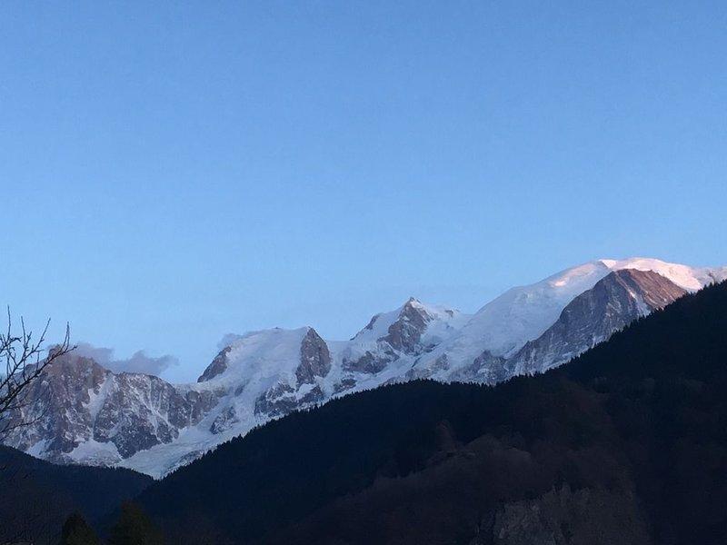 Face au Mont Blanc Appartement Privatif pour 2 dans chalet avec terrasse, holiday rental in Passy