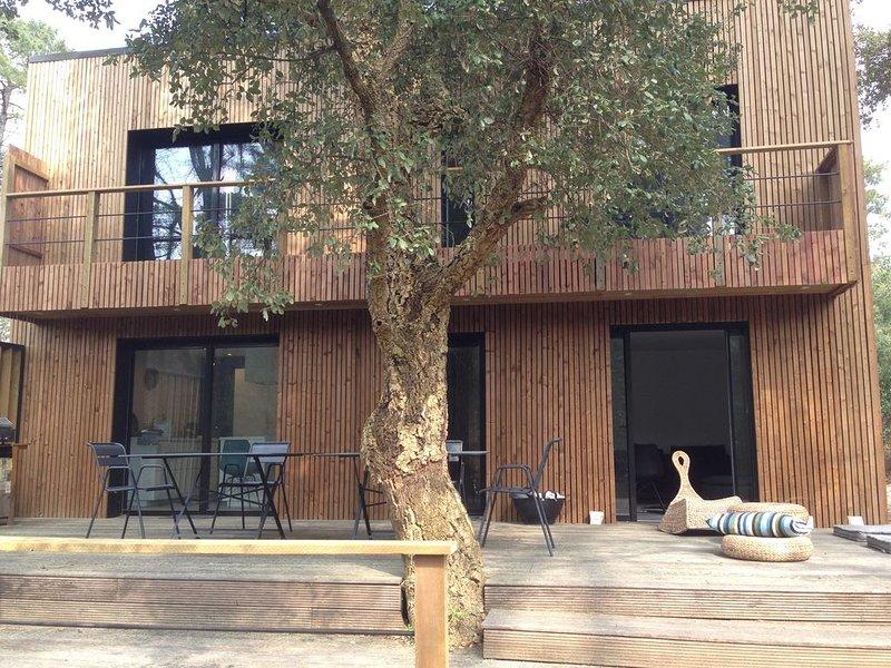 villa standing Soorts-Hossegor, idéale 2 à 3 familles, commodités, plages 5 min, holiday rental in Saubion