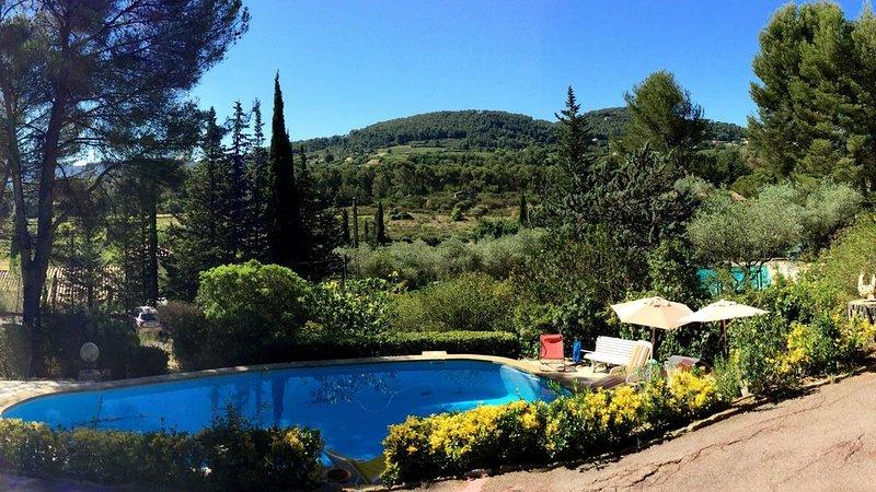 VILLA, piscine privée, jardin , au calme, dans les pins., holiday rental in La Cadiere d'Azur
