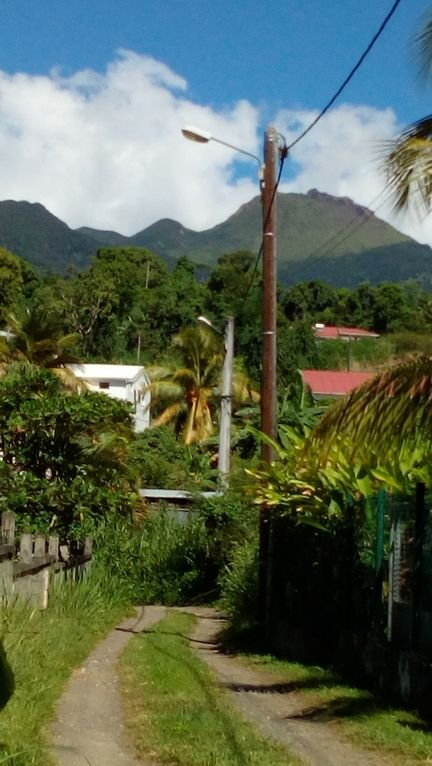 Path to the villa, overlooking the Soufriere