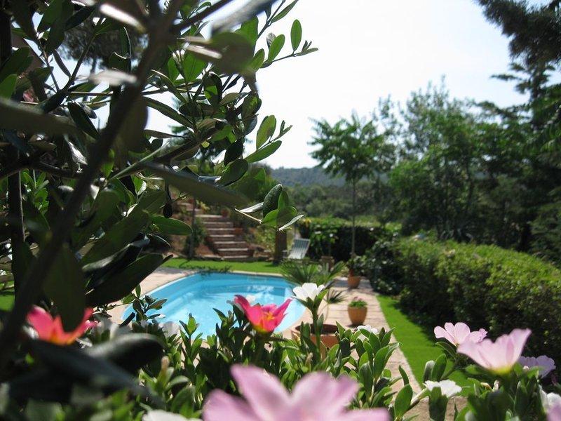 au sud de la france mas ensoleillé dans jardin méditerranéen, location de vacances à Saint-Chinian