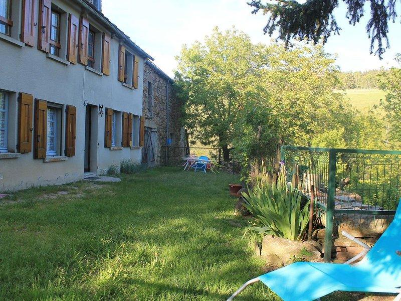 Grande maison de campagne, location de vacances à Chirac