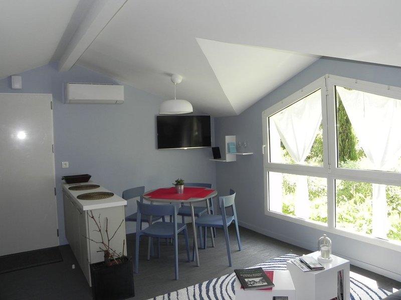 'Haut du Chasselas', entrée indépendante, stationnement gratuit, climatisation, location de vacances à Saint-Médard-en-Jalles
