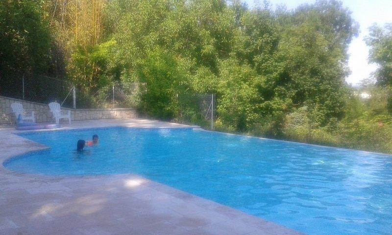 Gîte 8 pers 95 m² avec terrasse - Château Marith (Piscine, Jeux...), casa vacanza a Damazan