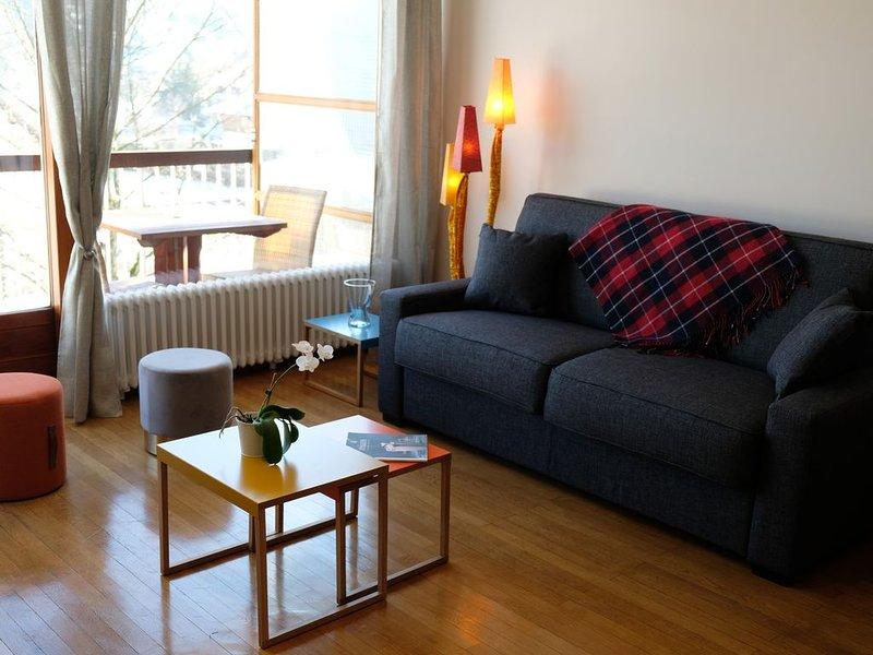 ANNECY Appartement de grand confort 7 personnes, salon 25m2 . Parking gratuit., location de vacances à Argonay