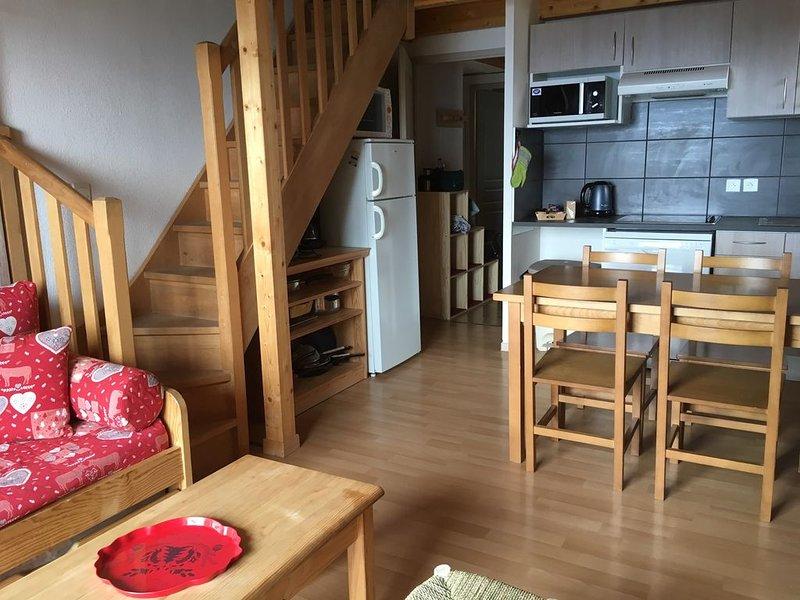 T4 duplex 60 m2 Font Romeu balcon vue panoramique 6 pers tout confort, location de vacances à Font-Romeu-Odeillo-Via