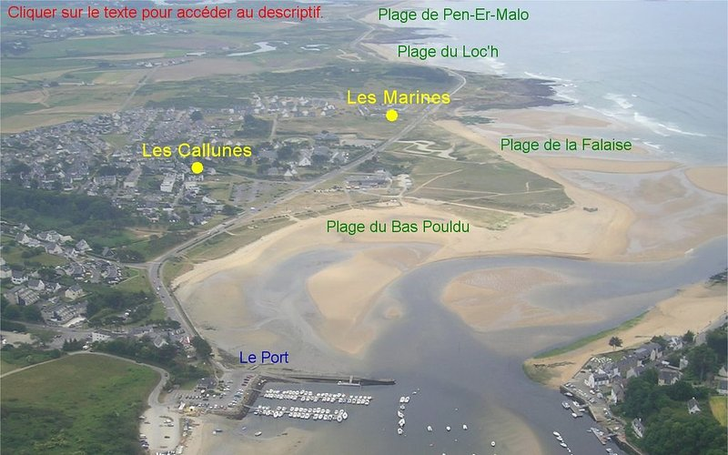 Face Mer - meublé ensoleillé tout confort, location de vacances à Le Pouldu