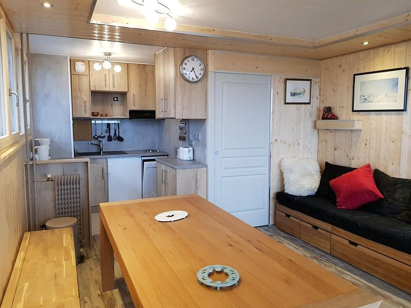 GRAND T3 50 m² croisette plein SUD ensoleillé ski au pied; label 3 flocons OR, holiday rental in Les Menuires