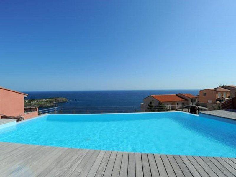Appartement neuf avec splendide vue mer et piscine, holiday rental in Cerbere