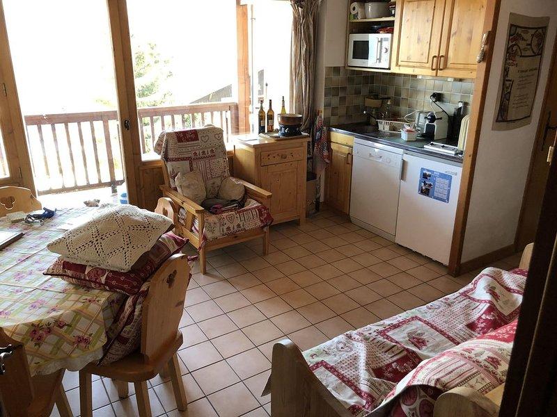 Crest-Voland, appartement au pied des pistes face aux Aravis, aluguéis de temporada em Saint-Nicolas-la-Chapelle