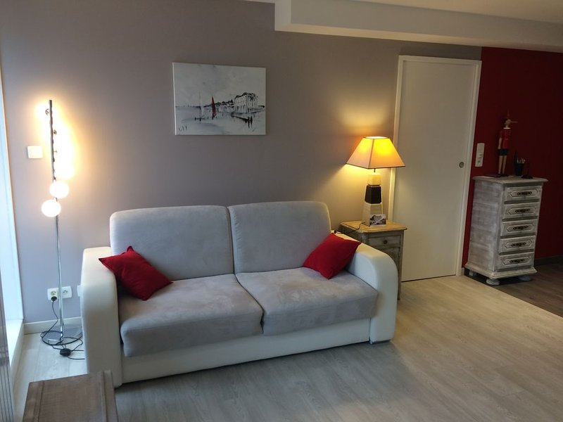 Apt  WIMEREUX / 2 ch / 6 couchages /accès direct digue /300 m  commerces / WIFI, vacation rental in Wimereux
