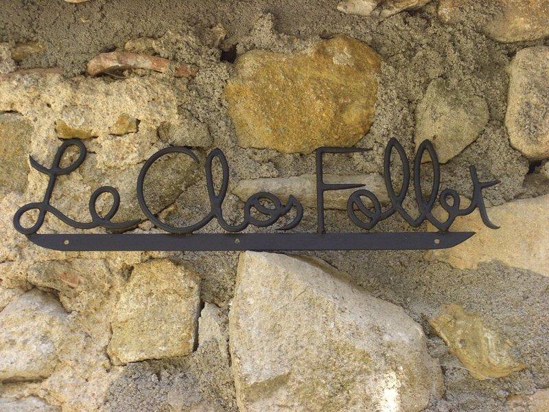 Le Clos Follet -Gîte rural indépendant -Les Assions, Pays des Vans. Ardèche sud., casa vacanza a Payzac