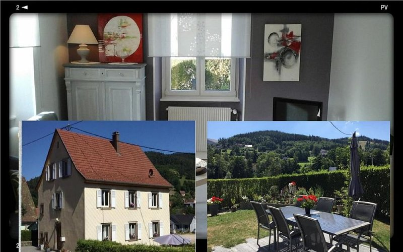 Belle Vallée de Munster GÎTE RDC  4pers 65m2 wifi, vacation rental in Soultzeren