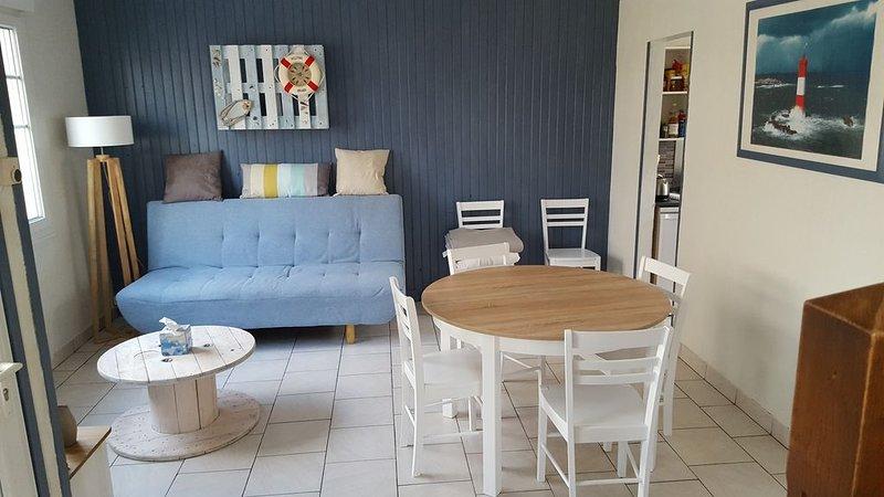 Appartement 3 chambres 30m de la plage vue mer, alquiler vacacional en Merlimont