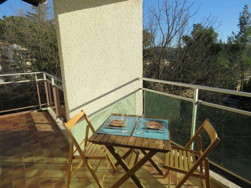 Magnifique T2 au calme, avec piscine et proche centre ville, holiday rental in Le Tholonet