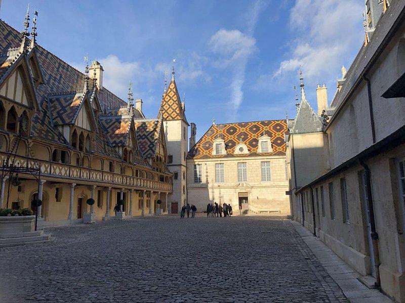 Courtyard of Hospices de Beaune