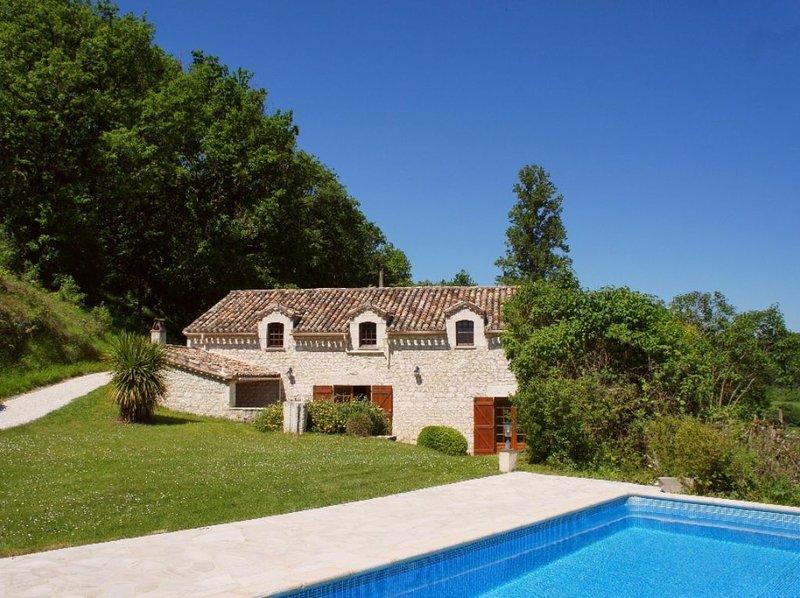 Regaussou propriété de caractère, 5 ha, isolée, nature, panorama, detente, clim, location de vacances à Touffailles