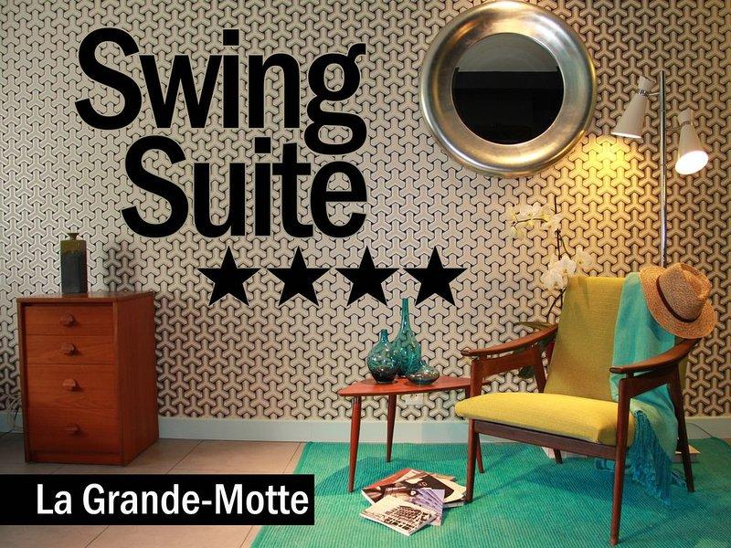 Swing-suite**** ~ Appartement-jardin grand standing ~ Quartier Golf-Ponant, location de vacances à La Grande Motte