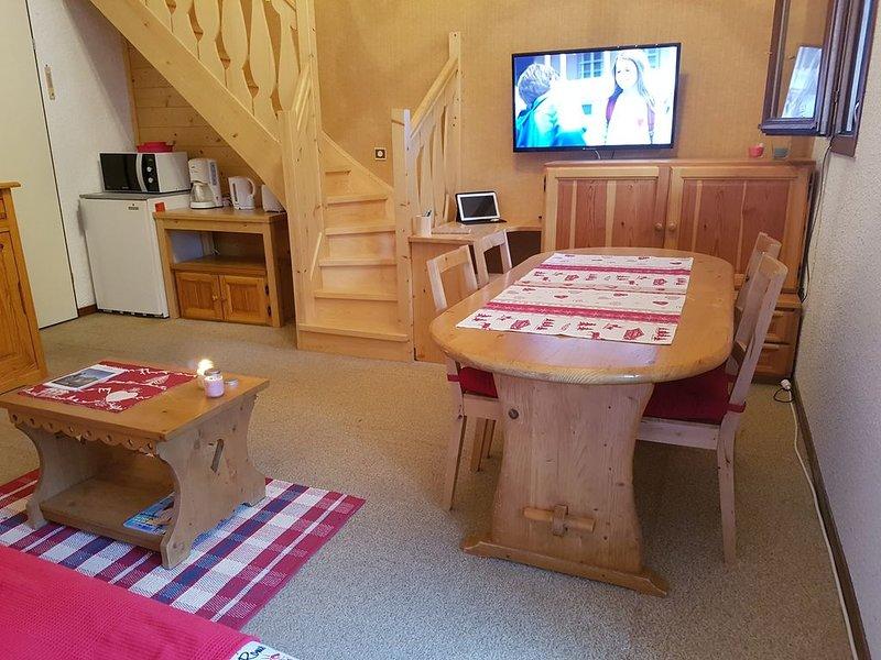 Duplex 2pièces + cabine 40m² ST GERVAIS LES BAINS proche centre ville télécabine, location de vacances à Saint-Gervais-les-Bains