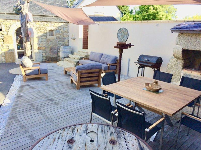Belle longere de caractère tout confort, location de vacances à Lampaul-Plouarzel