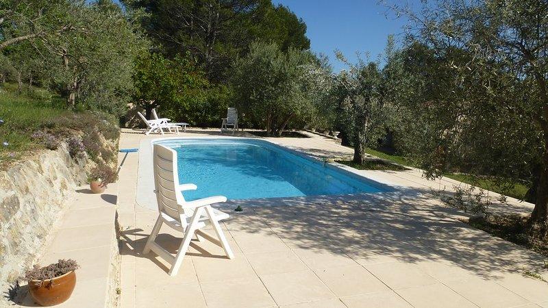 Location maison avec piscine privée Flayosc sur terrain d'oliviers, casa vacanza a Flayosc