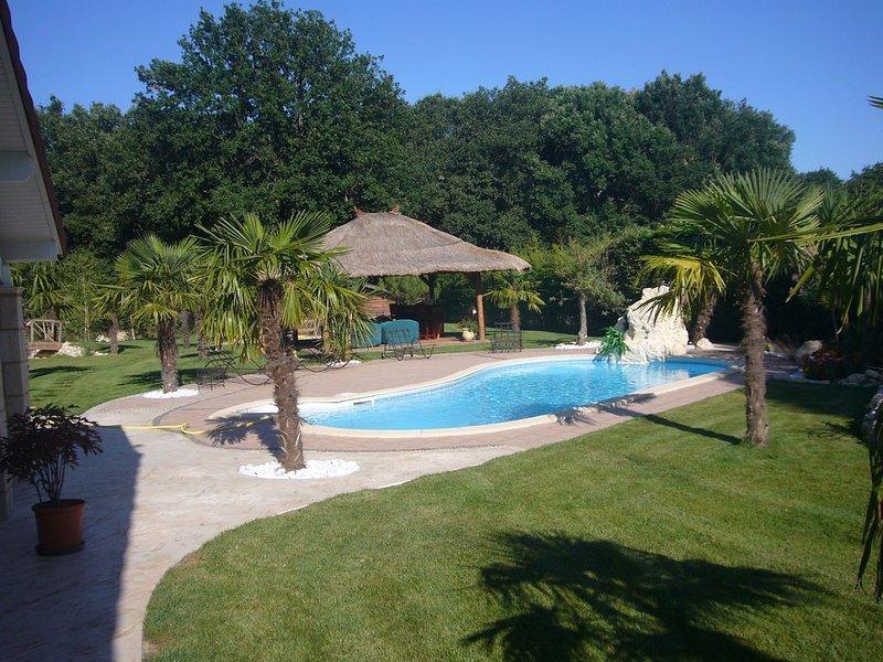 Maison T6 avec piscine et grand parc au calme, à  20' du centre de Toulouse, holiday rental in Aussonne