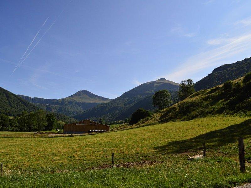 Grand gîte (70m2) trés clair , terrain clos (20a), pour 2 personnes, aluguéis de temporada em Saint-Bonnet-de-Salers