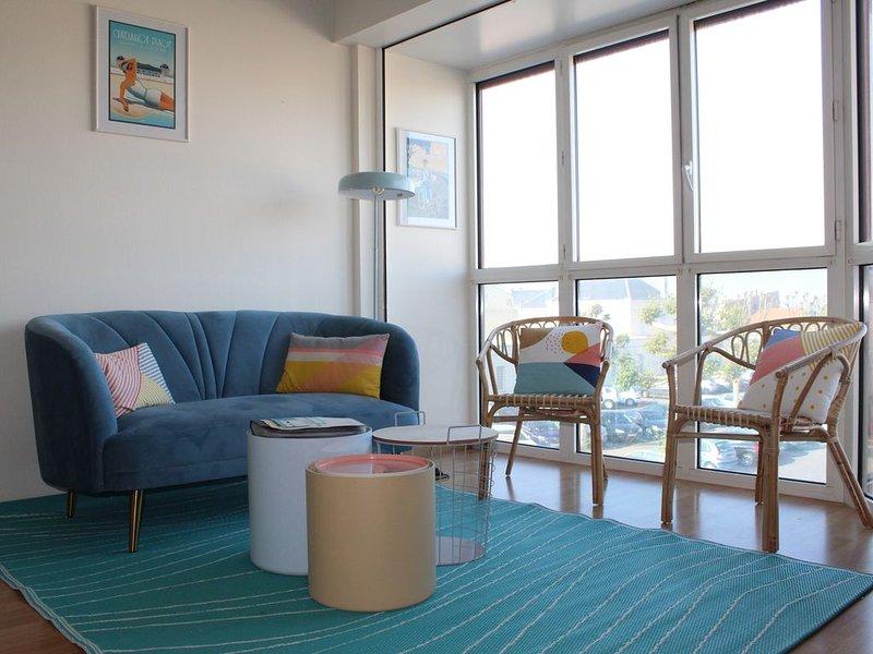 NOUVEAU-Bel appartement T2 à 50m plage - Piscine, Tennis - Proche gare, marché, holiday rental in Saint Vivien