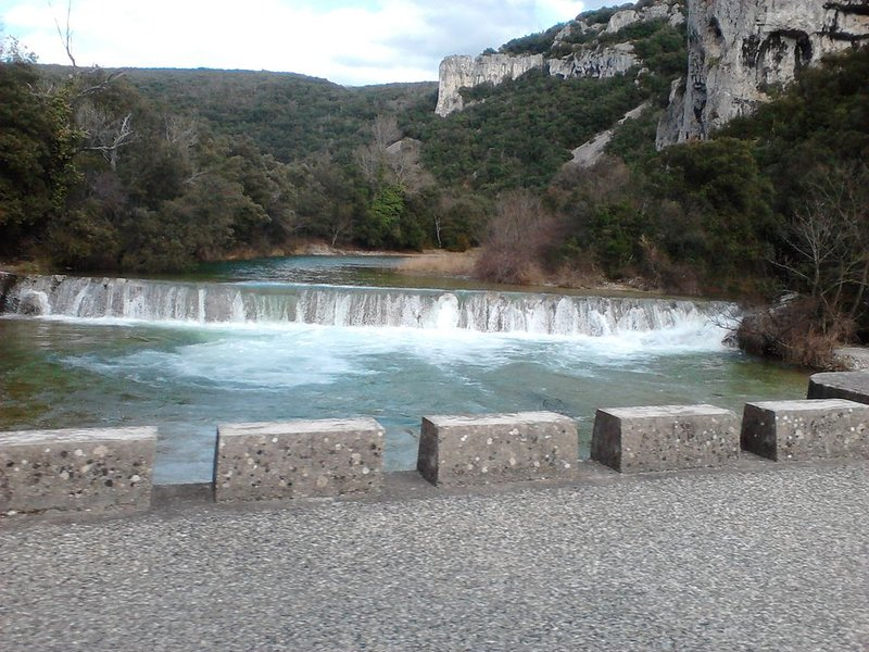 RIVER IBIE With its waterfall