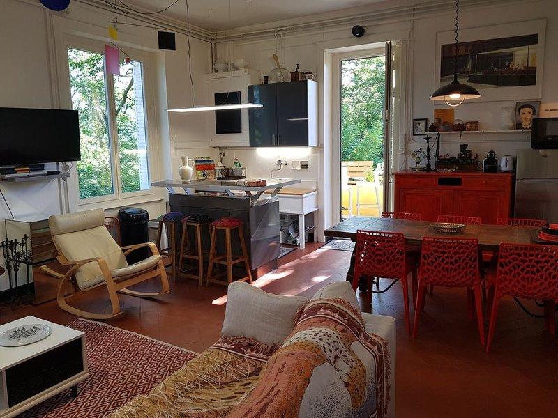 Sala de estar / cozinha aberta