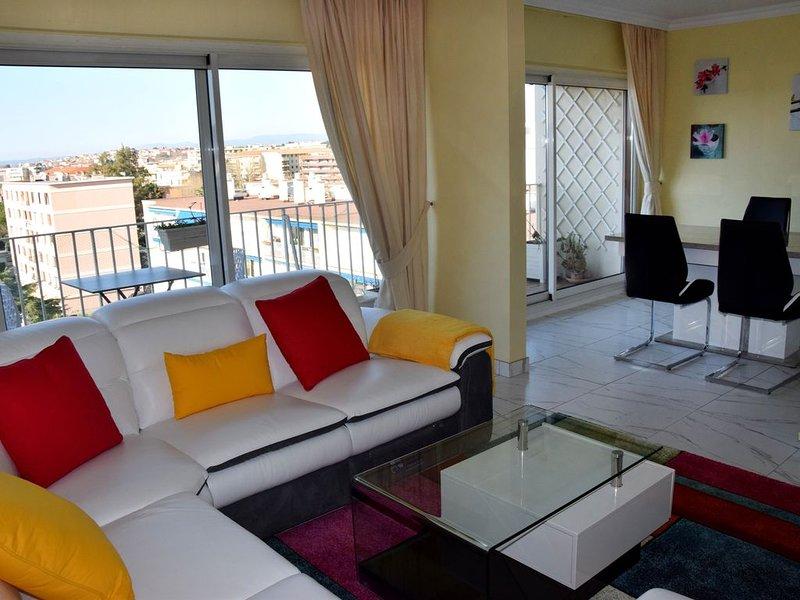 Splendide appartement, vue mer sur Fréjus-plage, location de vacances à Fréjus
