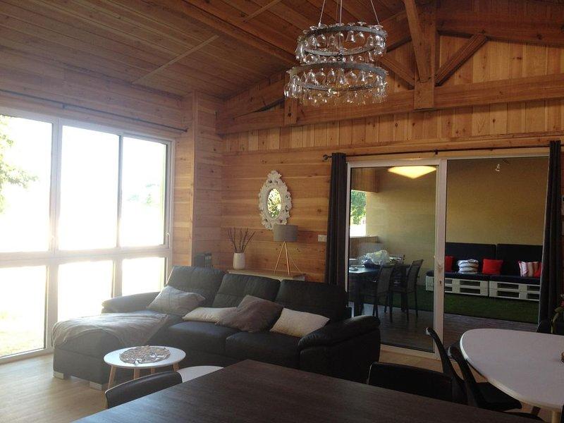 Bel appartement meublé, type loft,refait à neuf, 75 m2, pour 4/6 pers ,5mn plage, holiday rental in Vendays Montalivet