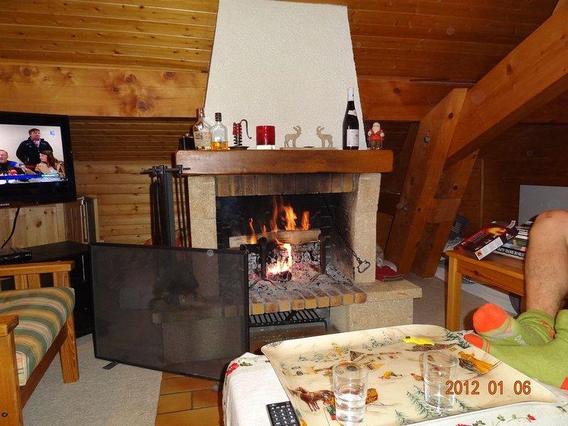 Chalet Appartement 8 personnes calme avec vue plein sud., holiday rental in La Clusaz